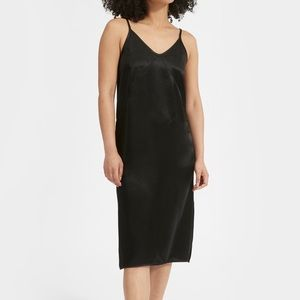 Everlane NWT the Party Slip Dress midi in black
